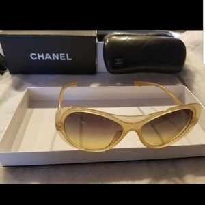Authentic Chanel oval sunglasses